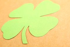 Lucky - Stock Image. Background for St. Patrick's Day. Silhouettes of green clover stock photos