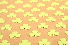 Lucky - Stock Image. Background for St. Patrick's Day. Silhouettes of green clover royalty free stock images