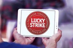Lucky strike cigarette company logo Stock Photos
