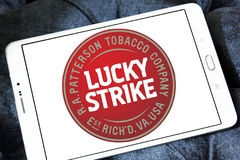 Lucky strike cigarette company logo Stock Image
