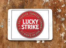 Lucky strike cigarettes company logo Stock Image