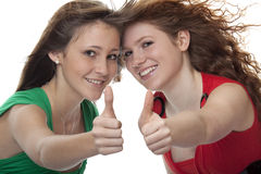 Lucky teenager with thumbs up Stock Photos