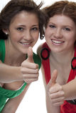 Lucky teenager with thumbs up Stock Photo