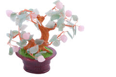 Lucky tree souvenir. Chinese traditional lucky tree made of gems Stock Image