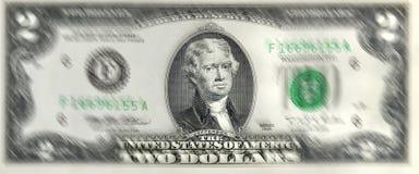 Lucky Two Dollar Bill Fotografia de Stock