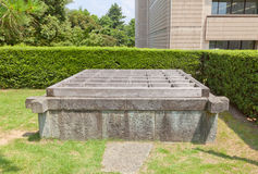 Lucky Well fuku-no-i of Fukui castle in Fukui, Japan Stock Images