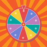 Lucky wheel, close up, illustration. Eps10 royalty free illustration