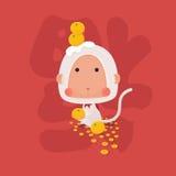 Lucky White Monkey Chinese New Year 2016 Royalty Free Stock Photo