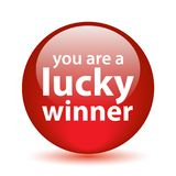 Lucky winner button. You are a lucky winner button - computer generated illustration on isolated white background vector illustration