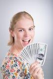 Lucky woman Royalty Free Stock Photos