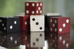 Lucky Wooden Dice Stock Photo