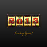 Lucky Year. 2013 slot machine. Vector illustration Stock Photo