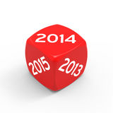 Lucky year. New year 2014 isolated on white background Royalty Free Illustration