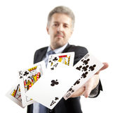 Lucky You, royal flush Stock Image