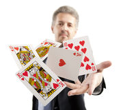 Lucky You, royal flush Stock Photo