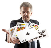 Lucky You, royal flush Stock Photos