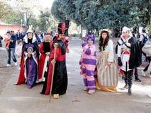 LUCQUES, ITALIE - 11 novembre : masque des personnages de dessin animé à Lucques Photos stock