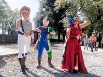 LUCQUES, ITALIE - 11 novembre : masque des personnages de dessin animé à Lucques Photo libre de droits