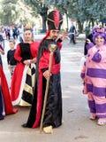 LUCQUES, ITALIE - 11 novembre : masque des personnages de dessin animé à Lucques Image stock