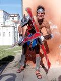 LUCQUES, ITALIE - 11 novembre : masque des personnages de dessin animé à Lucques Images stock