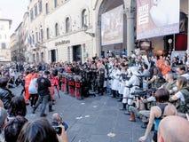 LUCQUES, ITALIE - 11 novembre : masque des personnages de dessin animé à Lucques Photos libres de droits