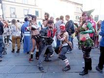 LUCQUES, ITALIE - 11 novembre : masque des personnages de dessin animé à Lucques Photo stock