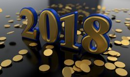 Lucrative new year background study, 3d rendering. Lucrative new year background study, 3d render Royalty Free Stock Images