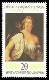 Lucretia y Tarquinius por Titian Imagen de archivo libre de regalías