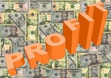 Lucro com dólares americanos Imagem de Stock Royalty Free