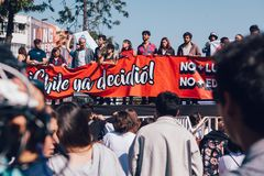 Lucro da educação do protesto dos estudantes Imagens de Stock