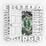 Lucro do investimento da indicação do relatório de orçamento da contabilidade de EBITDA Fotografia de Stock Royalty Free