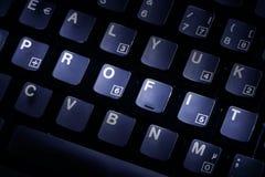 Lucro do teclado de computador Imagem de Stock