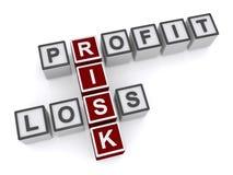 Lucro e perda de negócio Imagens de Stock Royalty Free