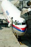 Lucro líquido 2010 das linhas aéreas de Malaysia (MAS) Fotos de Stock Royalty Free