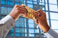 Lucro no euro Imagem de Stock