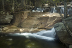 Lucy Brook waterfalls over granite bedrock, Diana's Baths, New H Royalty Free Stock Photography