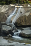 Lucy Brook waterfalls over granite bedrock, Diana's Baths, New H Royalty Free Stock Photo