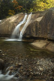 Lucy Brook waterfalls over granite bedrock, Diana's Baths, New H Royalty Free Stock Images