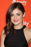 Lucy Hale arrives at the ABC Family West Coast Upfronts. LOS ANGELES - MAY 1:  Lucy Hale arrives at the ABC Family West Coast Upfronts at The Sayers Club on May Stock Photography