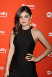 Lucy Hale arrives at the ABC Family West Coast Upfronts. LOS ANGELES - MAY 1:  Lucy Hale arrives at the ABC Family West Coast Upfronts at The Sayers Club on May Royalty Free Stock Photography
