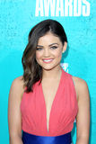 Lucy Hale arriving at the 2012 MTV Movie Awards Stock Photos