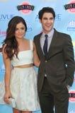 Lucy Hale & Darren Criss royalty-vrije stock foto
