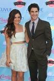 Lucy Hale & Darren Criss royalty-vrije stock afbeelding