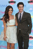 Lucy Hale & Darren Criss. LOS ANGELES, CA - AUGUST 11, 2013: Lucy Hale & Darren Criss at the 2013 Teen Choice Awards at the Gibson Amphitheatre, Universal City Royalty Free Stock Image
