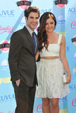 Lucy Hale & Darren Criss. LOS ANGELES, CA - AUGUST 11, 2013: Lucy Hale & Darren Criss at the 2013 Teen Choice Awards at the Gibson Amphitheatre, Universal City Royalty Free Stock Photo