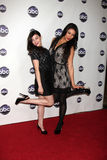 Lucy Hale,Shay Mitchel. LOS ANGELES - JAN 10:  Lucy Hale, Shay Mitchell arrives at the Disney ABC Television Group's TCA Winter 2011 Press Tour Party at Langham Stock Images