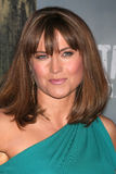 Lucy Lawless. LOS ANGELES - JAN 18:  Lucy Lawless  arrives at  the Spartacus: Vengeance Screening of the STARZ Series Season 3 Premiere at ArcLight Theaters on Stock Photography