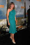 Lucy Lawless. LOS ANGELES - JAN 18:  Lucy Lawless  arrives at  the Spartacus: Vengeance Screening of the STARZ Series Season 3 Premiere at ArcLight Theaters on Stock Photos