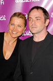 Lucy Lawless,Mark Sheppard Stock Photo