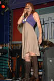 """Lucy Lawless. Performing with her band """"Paperback Hero"""". Universal Citywalk, Universal City, CA. 06-28-08 Stock Image"""